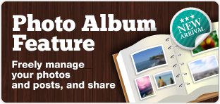 Photo Album FeatureFreely manage your photos and posts,and share